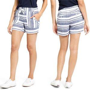 Athleta bold stripe linen shorts